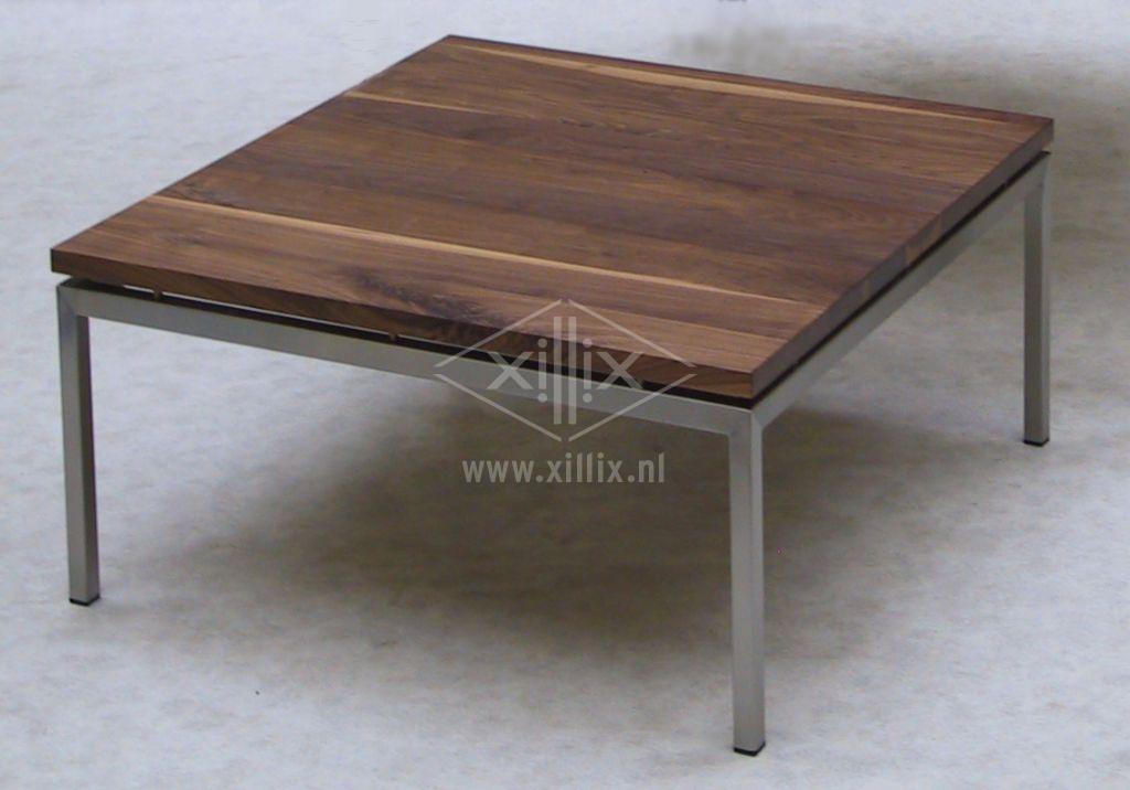 salontafel xillix.nl op maat met zwevend noten blad