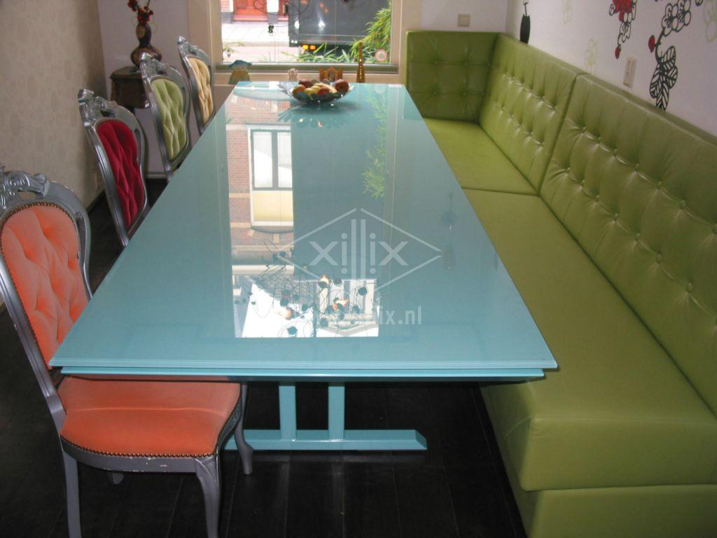 Eetkamertafel Glazen Blad : eetkamertafel uit één kleur van xillix ...