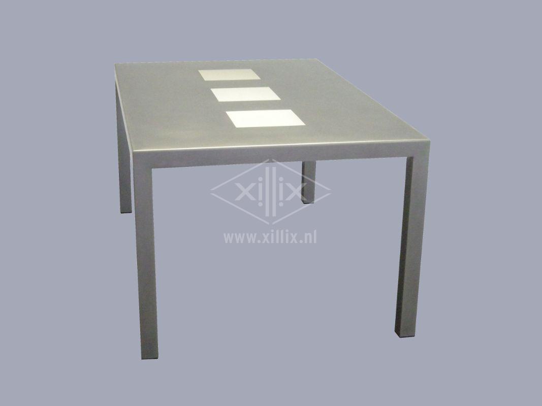 Eetkamertafel Glas Rvs : Xillix roestvrijstaal - exclusieve tafels op ...