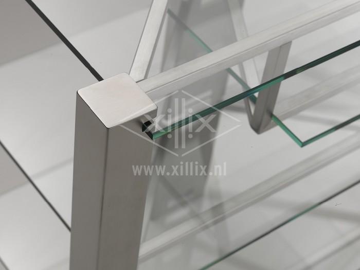 op maat gemaakt audiomeubel xillix.nl rvs met glas