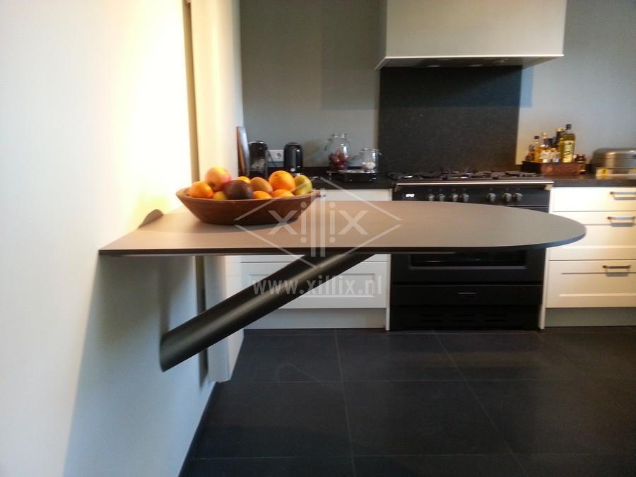 keukentafel blind aan de wand gemonteerd