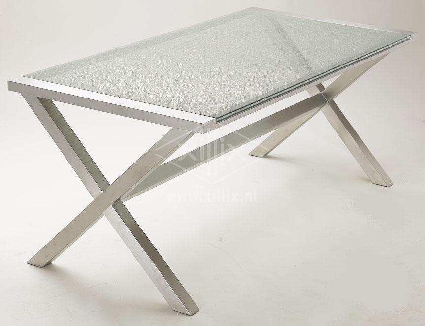 Rvs Keukentafel : Eetkamertafel glazen blad masterdesk is de ...
